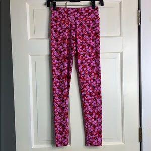 LuLaRoe pink floral pattern leggings OS NWOT